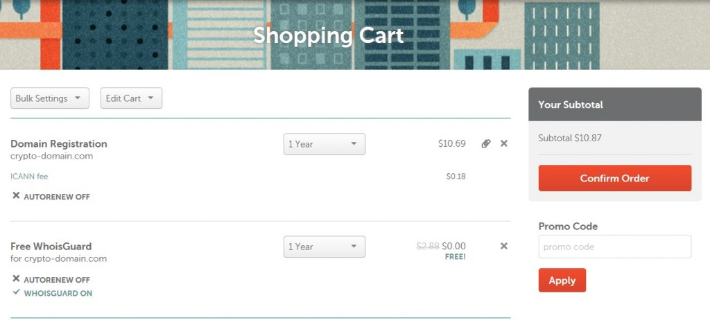 Namecheap Checkout